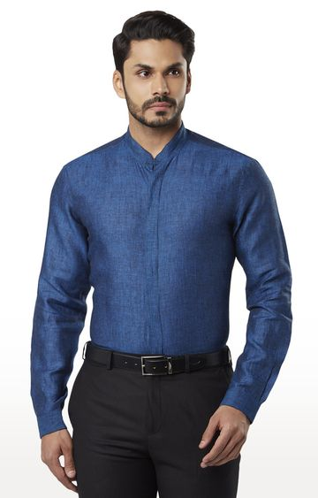 Raymond | Dark Blue Melange Formal Shirt