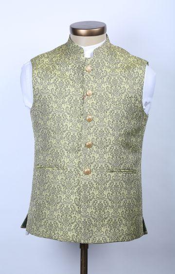 Raymond | Green Printed Ethnic Jacket