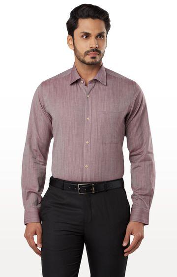 Raymond   Red Melange Formal Shirt