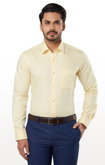 Raymond | Yellow Solid Formal Shirt