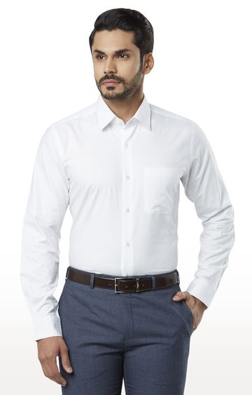 Raymond | White Solid Formal Shirt