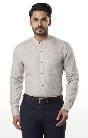 Raymond   Medium Beige Melange Formal Shirt