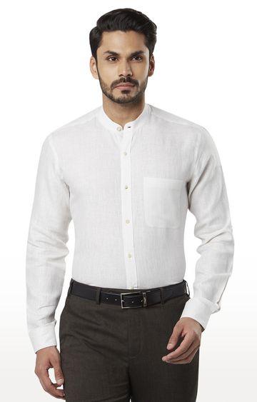Raymond | White Melange Formal Shirt