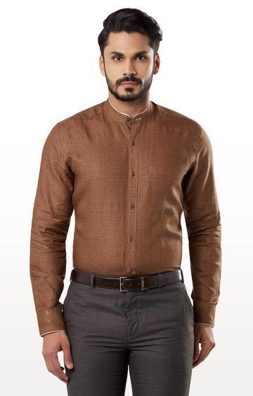 Raymond | Brown Melange Formal Shirt