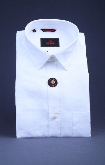 Raymond | White Solid Formal Shirt
