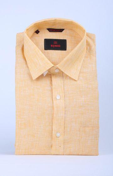 Raymond   Yellow Melange Formal Shirt