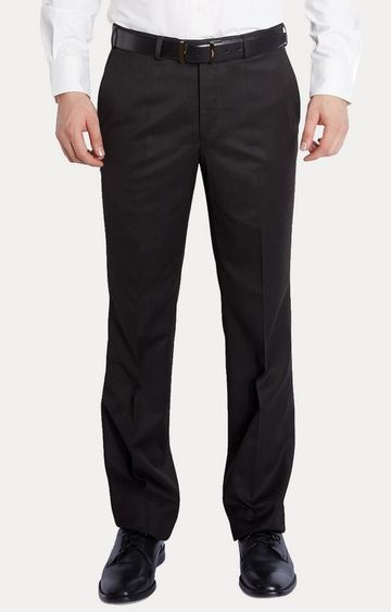 Raymond | Brown Straight Formal Trousers