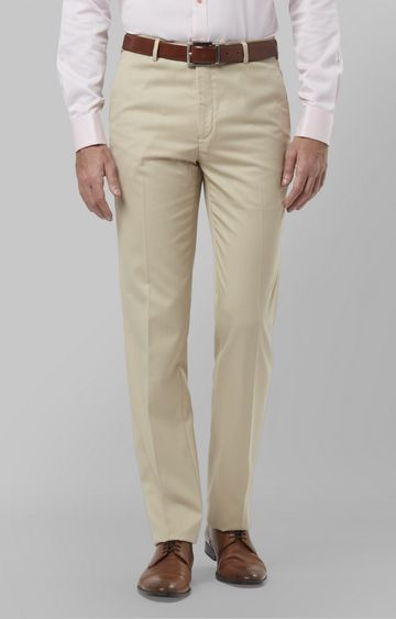 Raymond | Fawn Flat Front Formal Trousers