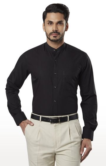Raymond | Black Solid Formal Shirt