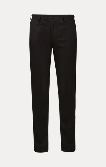 Raymond | Dark Brown Flat Front Formal Trousers