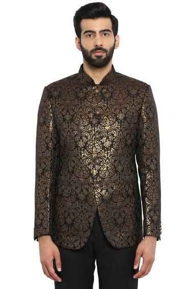 Raymond | Black Printed Ethnic Jacket