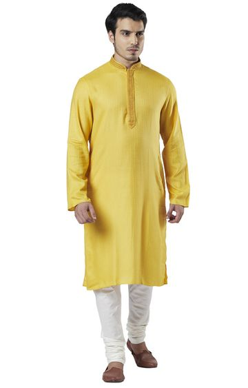 Raymond | Ethnix By Raymond Medium Yellow Kurta With Churidar