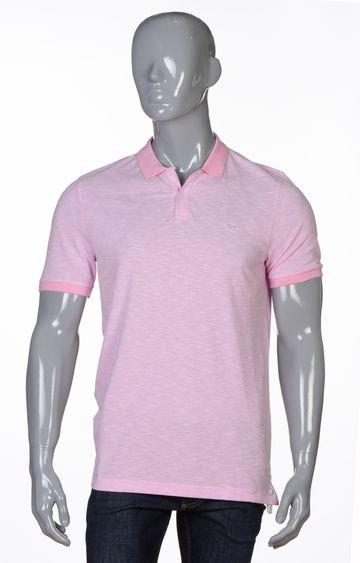 Park Avenue   Medium Red Melange Polo T-Shirt