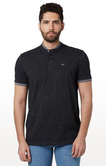 Park Avenue   Black Melange T-Shirt