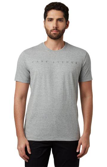 Park Avenue   Grey Printed T-Shirt