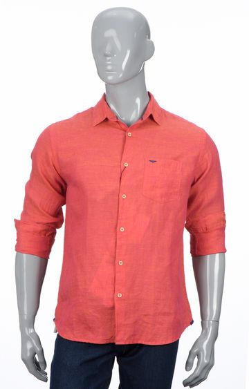 Park Avenue | Coral Solid Casual Shirt