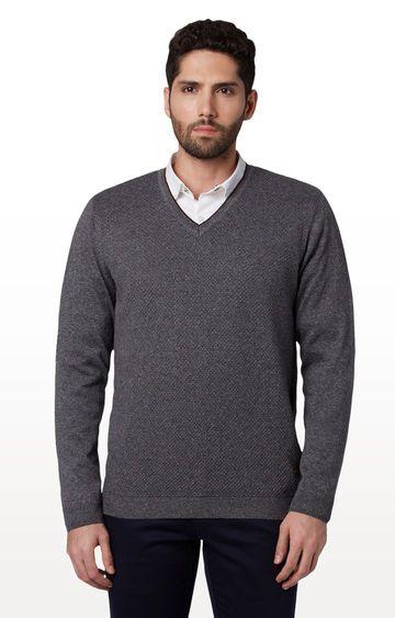 Park Avenue   Dark Grey Melange Sweater