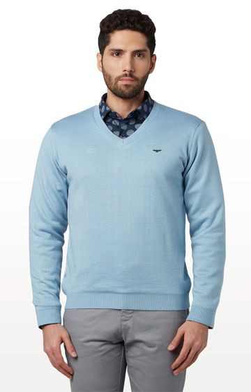 Park Avenue | Light Blue Solid Sweater