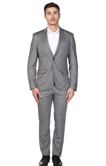 Park Avenue | Grey Melange Two Buttoned Suit