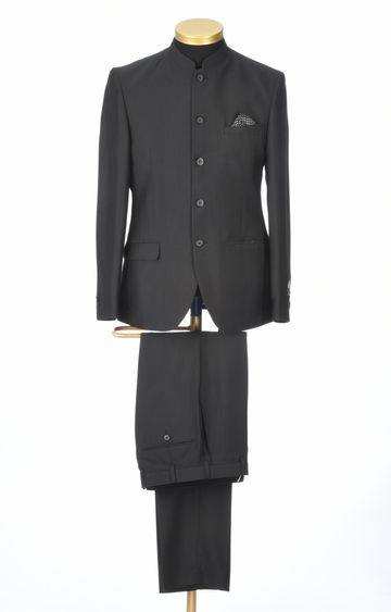 Park Avenue | Black Solid Bandhgala