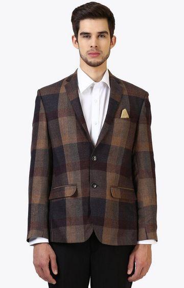 Park Avenue | Brown and Black Checked Blazer