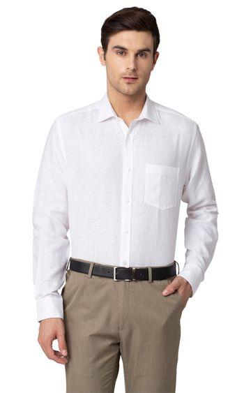 Park Avenue | White Solid Formal Shirt