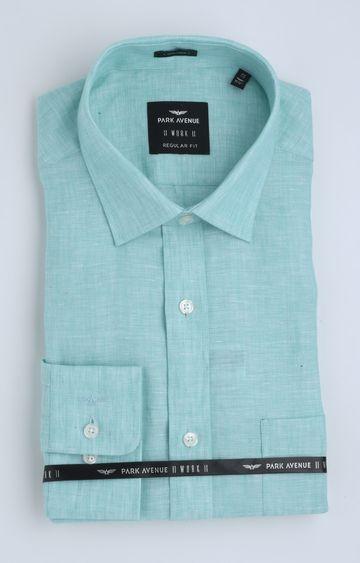 Park Avenue | Green Melange Formal Shirt