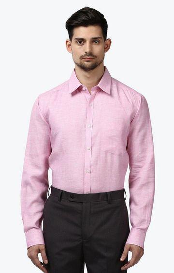 Park Avenue | Pink Melange Formal Shirt