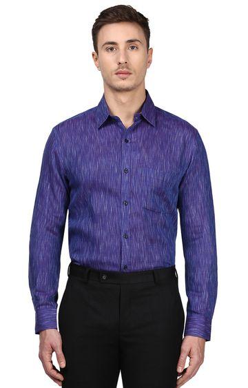 Park Avenue   Blue Melange Formal Shirt