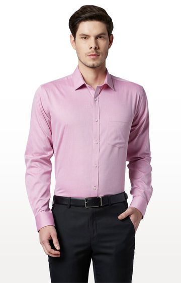 Park Avenue | Pink Solid Formal Shirt