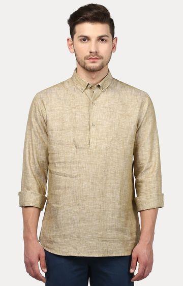 Park Avenue | Khaki Melange Casual Shirt