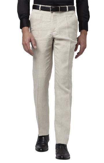 Park Avenue | Fawn Melange Flat Front Formal Trousers