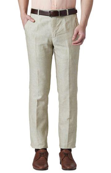 Park Avenue | Beige Flat Front Super Slim Fit Formal Trousers