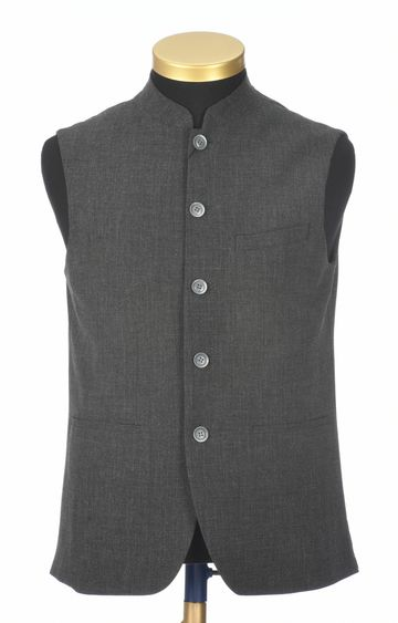 Park Avenue | Dark Grey Melange Ethnic Jacket