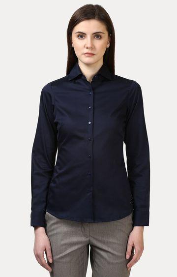 Park Avenue | Dark Blue Solid Formal Shirt