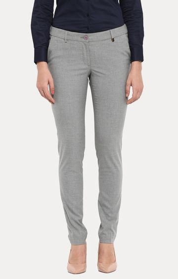 Park Avenue   Grey Straight Trousers