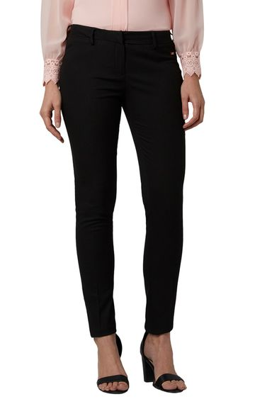 Park Avenue | Black Tapered Trousers