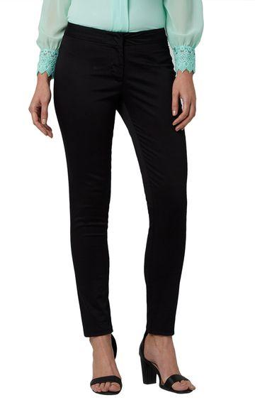 Park Avenue | Black Super Slim Fit Trousers