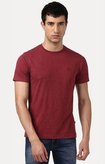 PARX | Maroon Melange T-Shirt