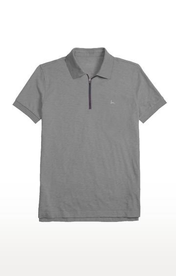 PARX | Grey Melange Polo T-Shirt