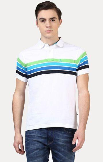 PARX | White Striped T-Shirt