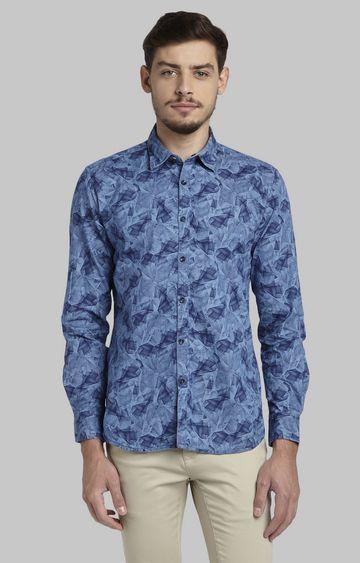 PARX   Blue Printed Casual Shirt