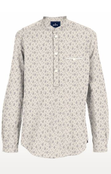 PARX | Beige Printed Casual Shirt