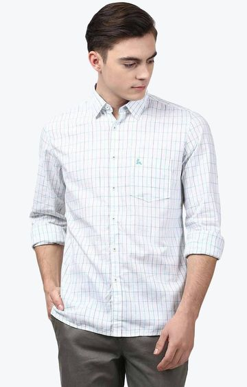 PARX | Light Blue Checked Casual Shirt