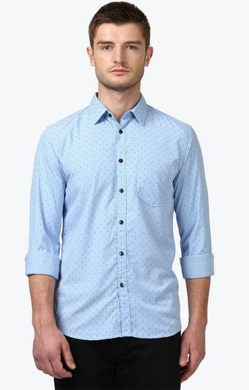 PARX | Blue Printed Casual Shirt