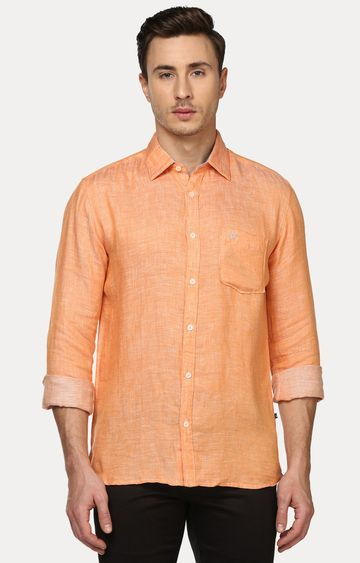 PARX | Orange Melange Casual Shirt