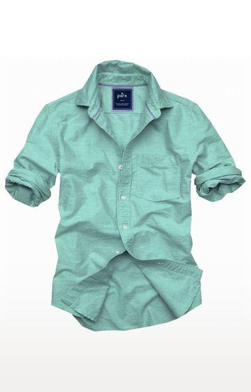 PARX | Green Melange Casual Shirt