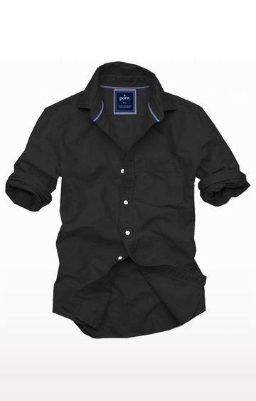 PARX | Black Solid Casual Shirt