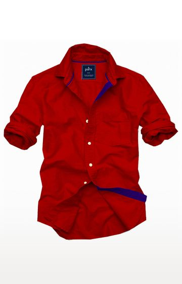 PARX | Red Solid Casual Shirt