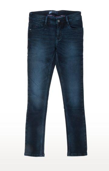 PARX   Dark Blue Solid Straight Jeans